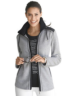 08ba2452971 Alessa W. Colour Contrast Fleece Jacket