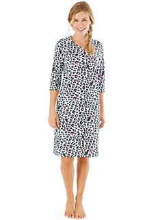 08640ff55e1 Leopard Print Knee Length Nightshirt