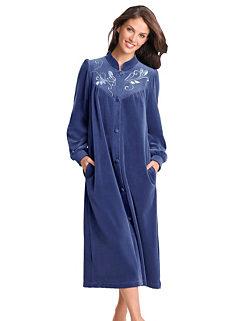 Ladies Dressing Gowns Cotton Fleece Floral Witt