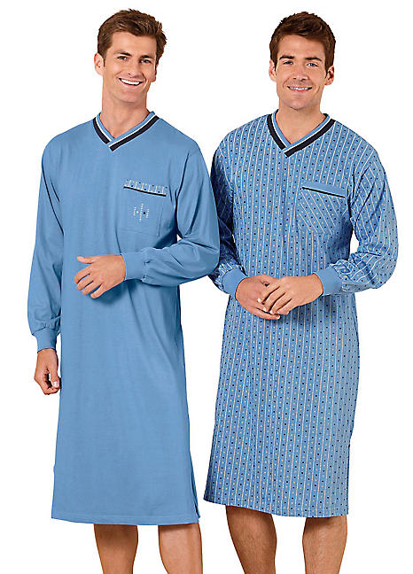 d27bb76f7b4 Pack of 2 Short Sleeved Nightshirts by Witt