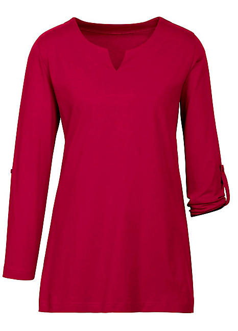 baf150fab97059 Pull-On Roll Sleeve Blouse by Witt | Witt-International