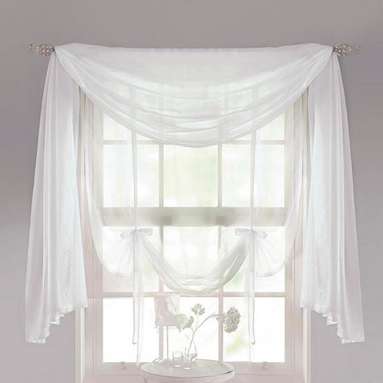 Crystal Voile Curtain Scarf